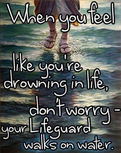 drowning in life