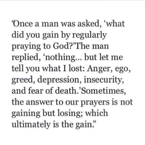 what have you gained by prayer