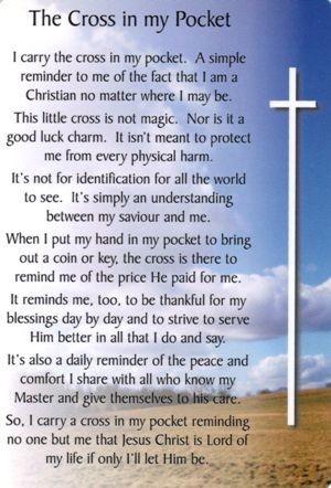 the cross in my pocket