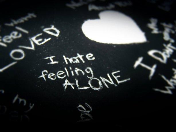 i hate feeling alone