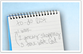 god's to do list