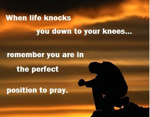 kneeling is the perfect position to pray
