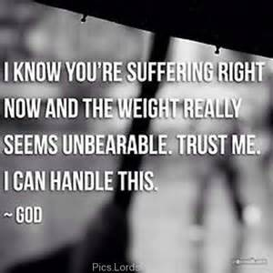 God knows we're hurting