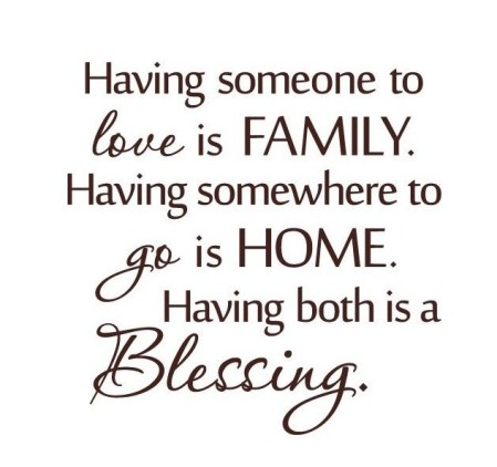 family + love = blessing