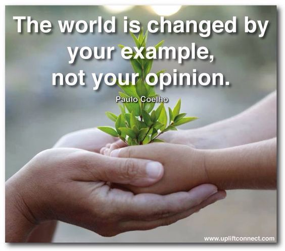 change by example not opinion