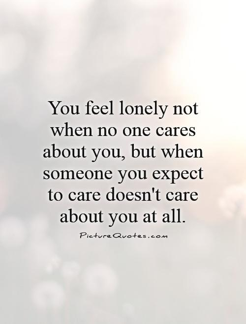 doesn't care