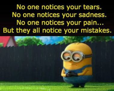 only mistakes