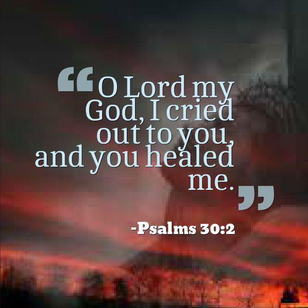 you-healed-me